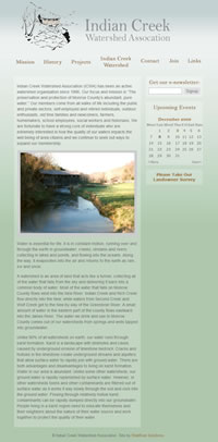 Indiancreek Watershed Association screen shot