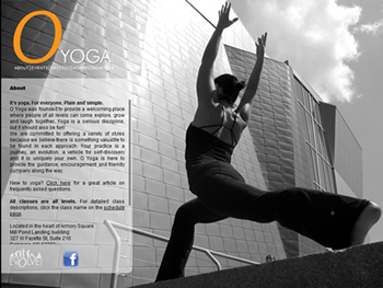 O Yoga Website